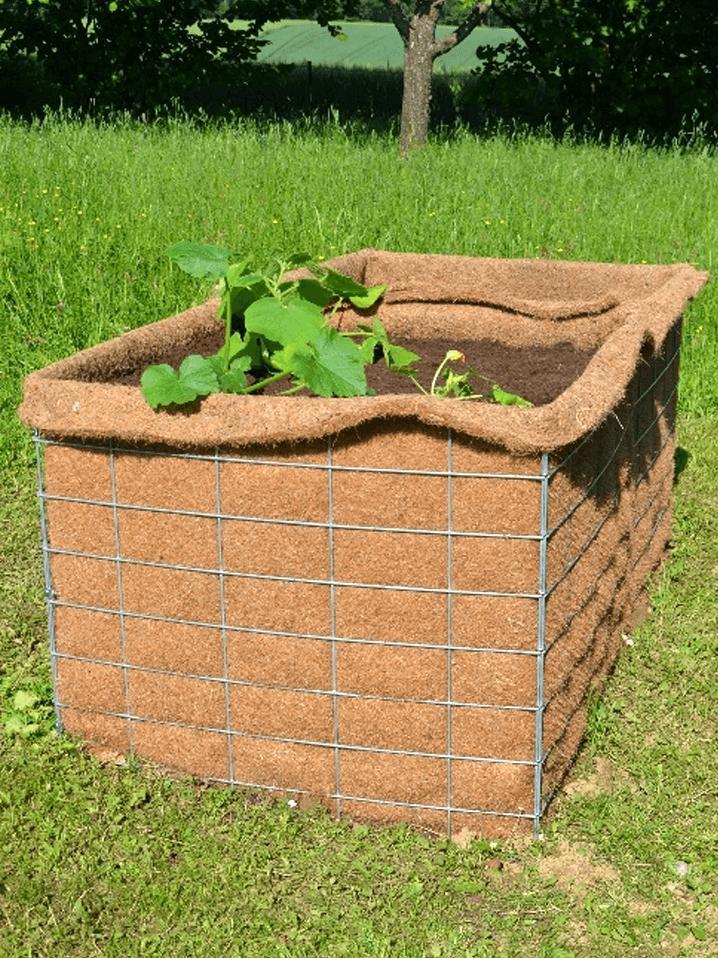 Bepflanztes Gabionen-Hochbeet